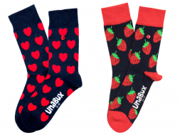 Unabux Sokken 2-pack: Hearts & Strawberries