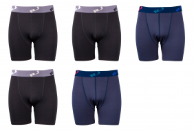 RJ Bodywear Boxer 5-pack: Black & Blue